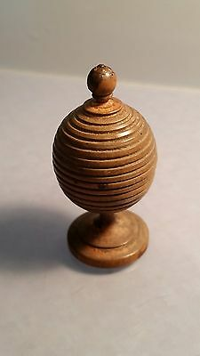 # Victorian miniature turned wood cup & with cover ball treen toy