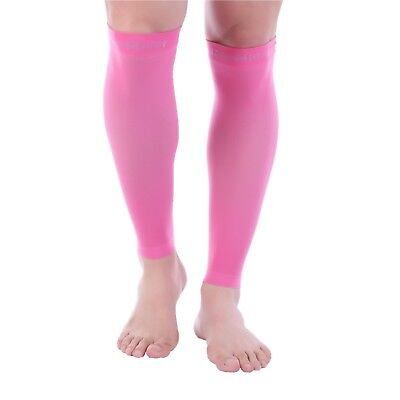 Doc Miller Calf Compression Sleeve 1 Pair 20-30mmHg Recovery Varicose Veins PINK