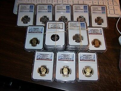 (Lot Of 3) Ngc-Proof 70 Uc Coins-Below Guide Values-Read!! Read!!-Lot #2-Clean