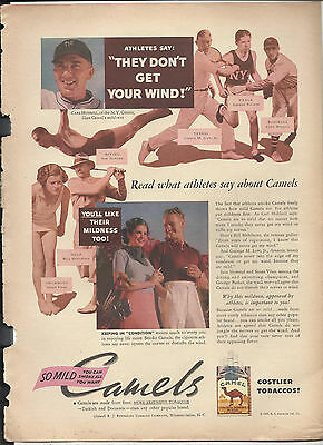 1935 Camel Cigarettes Ad *Read What Athletes Say...They Dont Get Your Wind!*