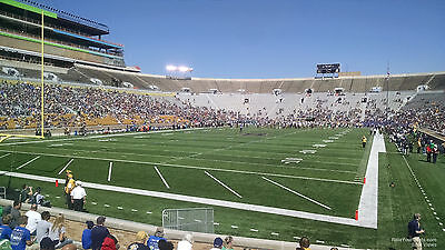 NOTRE DAME vs USC, SAT. OCTOBER 21ST, 2017, 7:30 PM 2 TICKETS. SECTION 16 ROW 24