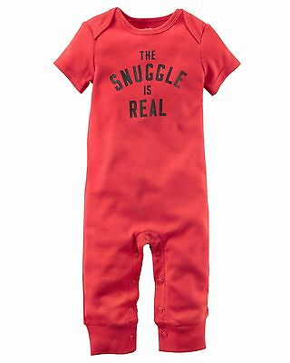 Carter's    Baby Boys' The Snuggle Is Real Jumpsuit   MSRP$14.00    12M, 18M