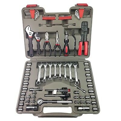 91Piece Mechanics Tool Kit Set For Car Garage,Ratcheting Socket Driver & Sockets