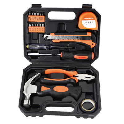 19 Piece Household Tool Kit Set,With Claw Hammer,Pliers,Screwdrivers
