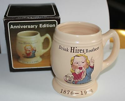 Drink Hires Root Beer  Mug  Anniversary Edition with Box / 1876-1986