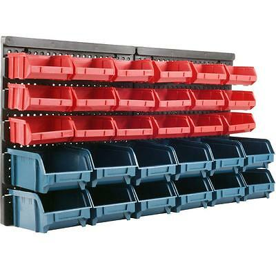 30 Bin Wall Mount Parts Rack to Organize nuts bolts and other small parts!