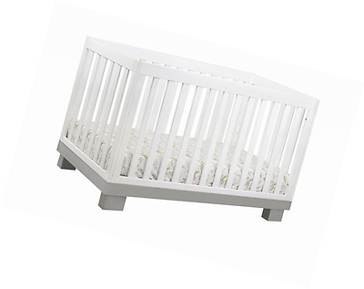 Babyletto Modo 3-in-1 Convertible Crib with Toddler Rail, Grey/White