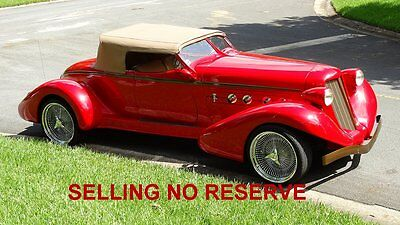 1936 Replica/Kit Makes BOAT TAIL SPEEDSTER AUBURN REPLICA 1936 AUBURN BOATTAIL SPEEDSTER REPLICA 4 SEATS CANVASS TOP RARE FIND NO RESERVE
