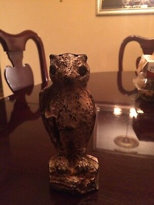 ANTIQUE Kilgore cast iron owll with book wise owl mechanical bank 1920
