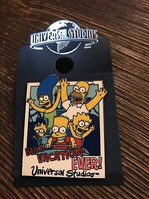 The Simpsons Best Vacation EVER! Pin Universal Studios Simpsons Family