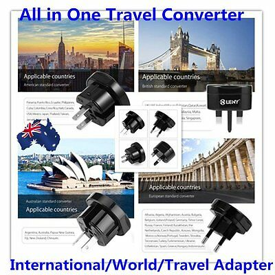 Universal International World Travel Adapter Converter Plug Power US/UK/AU/EU AU