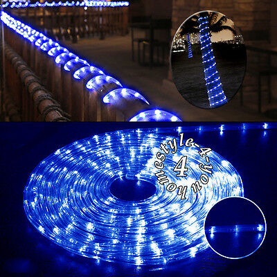 Waterproof 10m 240 leds rope tube commercial fairy string lights connectable 10m 240 led rope string fairy lights outdoor indoor decking gazebo aloadofball Choice Image