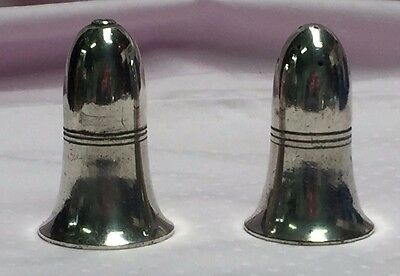 c1860-1900 Vintage Silver Salt And Pepper Shakers - Walker & Hall 51767 A1