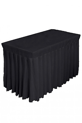 Tina 4 Foot Polyester Fitted Tablecloth Table Skirt For Wedding Banquet Trade..