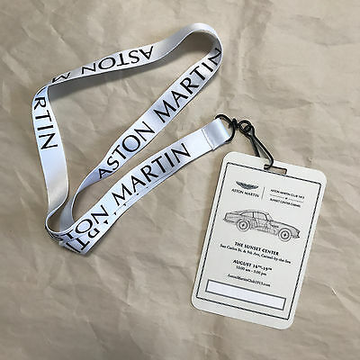 Aston Martin Club 1913 Carmel lanyard pass, NEW