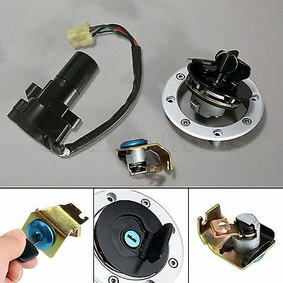 Motorcycle Ignition Seat Gas Cap Lock w/ 2 Keys Set for Suzuki GS500 2001-2012