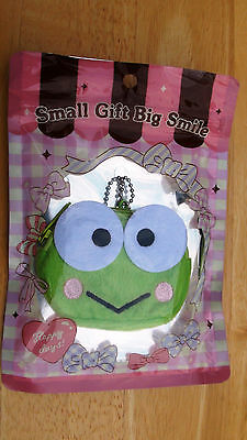 NWT Sanrio Hello Kitty Kerropi Face Coin Purse Mini Pouch with Chain from Japan