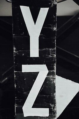 16 foot authentic original vintage industrial Bus Scroll letters F - Z wall art