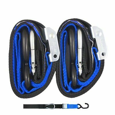 Gorilla Grip Tie Downs 38mm S Hook top Blk/Blue Loop