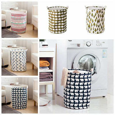 Large Waterproof Folding Linen Washing Clothes Laundry Storage Basket Pouch Home