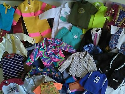 Large Lot Ken Clothes and Accessories. Many Genuine Mattel Tagged.