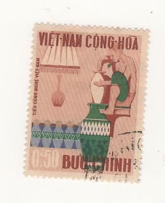 1967 South VIETNAM ARTS & CRAFTS - 50c. POTTERY MAKING stamp SG#S291 Used
