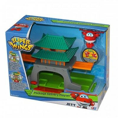Super Wings Package Delivery Playset Con Mini Personaggio Jett Yw710811 Auldey