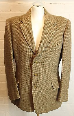 """1960's Vintage Wool Blazer / Tailored Jacket by Frank Hall Size 40 R - 40"""" Chest"""