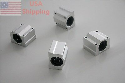 4PCS Linear Ball SCS16UU 16mm Bearing Pillow Block Linear Slides Unit for CNC