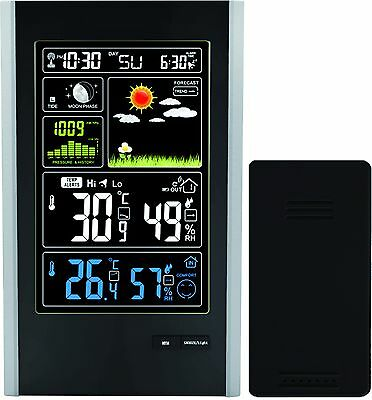 TG646 - Tall Radio Controlled Weather Station with Wireless Sensor