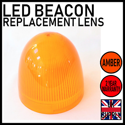 2 x Replacement Amber Lens for LAP LMB Series LED Flashing Beacons