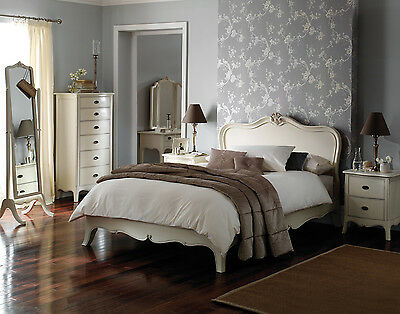 Charlotte Cream French Mahogany Wood Bed Frame (Double, King, Superking)
