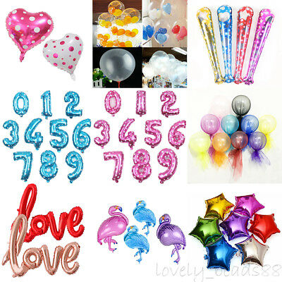 Lots 50 Style 1-100X Foil/Latex Balloon Wedding Birthday Baby Shower Party Decor