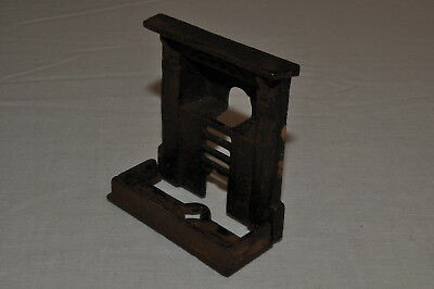 E702 Vintage Doll's House REAL Cast Iron Fireplace and Hearth '20's A/-