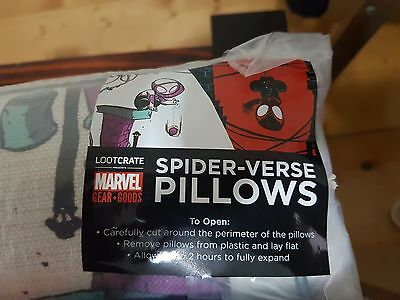 Marvel Spider-Verse Pillows Loot Crate exclusive