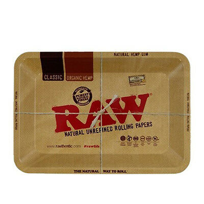 Raw Large Rolling Tray Small 7 x 5 Single by Rizla Metal 1970's Style Collectors