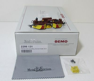 Bemo 2299131 RhB Xk 9141 Spurpflug Exclusivmodell 2014 Metal Collection 2299 131