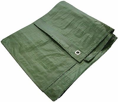 Heavy Duty Waterproof Strong Cover Ground Sheet 6' X 9' Tarpaulin - Green