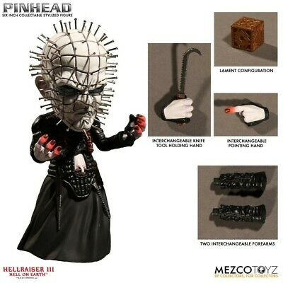 HELLRAISER Figura Action PINHEAD 15cm STYLIZED DELUXE Originale MEZCO Figure NEW