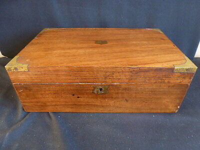 Very Large Vintage Writing Slope/Box With Brass Fittings