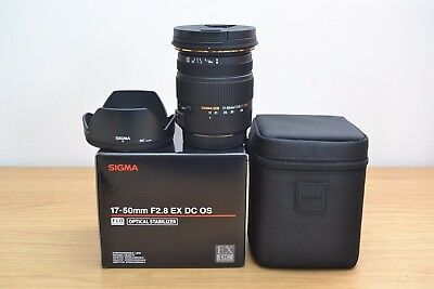 New Sigma 17-50mm f/2.8 EX DC OS HSM Zoom Lens for Canon - 3 Year Warranty
