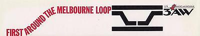First around the Melbourne loop 1278 3AW Radio Melbourne 1980s sticker 22cm long