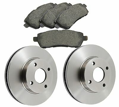 Ford Fiesta MK7 Zetec 2008- Front Brake Discs and Brake Pads 258mm Vented Discs