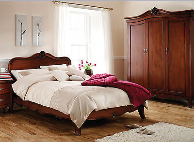 Ella French Mahogany Wood Bed Frame (Double, King, Superking)