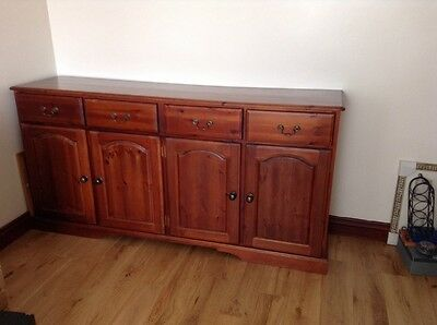 Solid Wood Mahogany stained Sideboard.