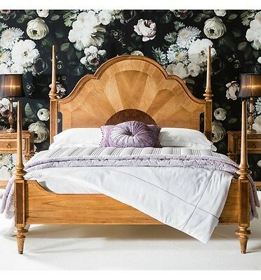 Manhattan French Finest Ash & Walnut Wood Four Poster Bed (King, Superking)