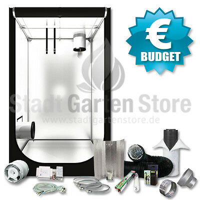 BUDGET Growbox Komplett Set 600 Watt Secret Jardin HS120 120x120x200 grow set