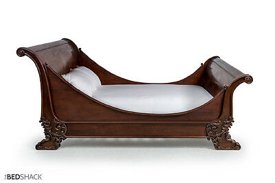 French Mahogany Brodsworth Lit Bâteau Sleigh Bed (Any Colour~Custom Sizes)