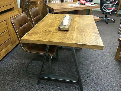 Conference Boardroom Meeting Office Industrial Table+Chairs Metal Wood Vintage