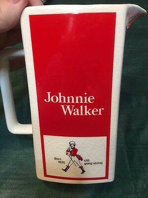 Vintage Collectible Johnnie Walker Scotch Whisky Ceramic Pitcher Made in England